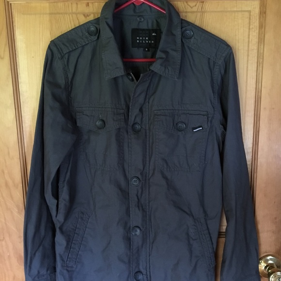 Quiksilver Jackets Coats Quik Silver Shirt Jacket Gray Zip